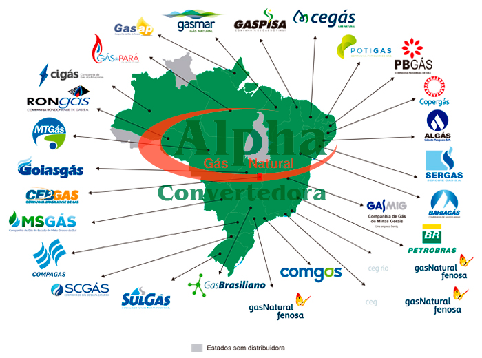mapa distribuidoras gas natural